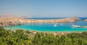 Mediterranean blue bay Stock Photos