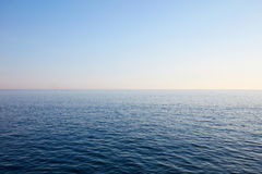 Mediterranean blue, calm sea and horizon, clear sky. In Italy Royalty Free Stock Photos