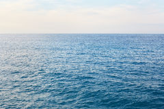 Mediterranean blue, calm sea horizon. Mediterranean blue, calm sea with horizon in the morning Stock Photography