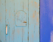 Mediterranean blue door details in Balearic Islands Royalty Free Stock Image
