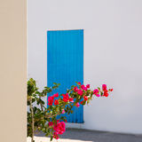 Mediterranean blue door details in Balearic Islands Royalty Free Stock Photo