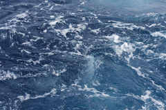Mediterranean boat wake Royalty Free Stock Images