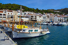Mediterranean boats at dock Stock Image