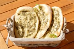 Mediterranean bread Stock Photography