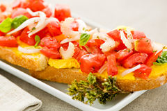 Mediterranean bruschetta Royalty Free Stock Photo