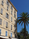 Mediterranean building, Ajaccio, Corsica. Royalty Free Stock Image