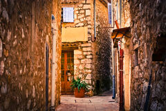 Mediterranean building. Photo of old buildings and old stone in Mediterraneen type in the Alpes-Maritimes Stock Images