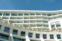 Mediterranean building spa hotel Royalty Free Stock Image