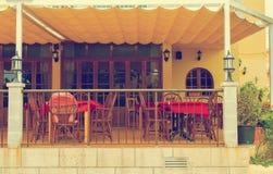 Mediterranean cafe terrace. Stock Image