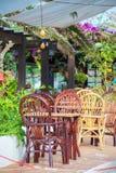 Mediterranean cafe. Royalty Free Stock Image