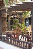 Mediterranean cafe. Stock Photo