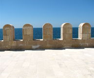 Mediterranean Castle. Simple view of the Mediterranean Sea Royalty Free Stock Photos
