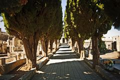 Mediterranean cemetery Stock Photography