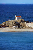 Mediterranean chapel by the sea Royalty Free Stock Image