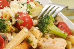Mediterranean Chicken and Pasta Stock Photos