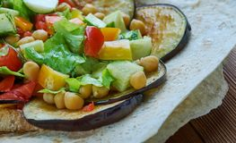 Mediterranean chickpea salad with za'atar Royalty Free Stock Photos