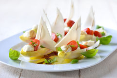 Mediterranean chicory sailboats Royalty Free Stock Photos