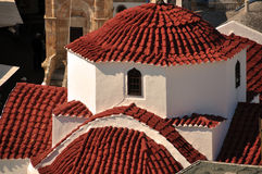 Mediterranean Church Roof Royalty Free Stock Photography