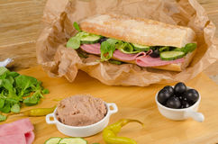 Mediterranean ciabatta Stock Photos