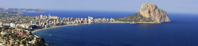 Mediterranean city. Panoramic view of Calpe City Stock Images