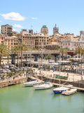 Mediterranean city scape of Genoa, Italy Stock Images