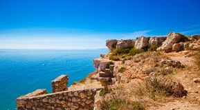 Mediterranean Cliff Stock Photography