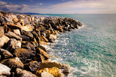 Mediterranean cliff on Tuscany landscape Stock Images