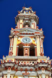 Mediterranean clock tower Royalty Free Stock Photos