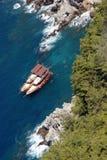 Mediterranean coast. View on Mediterranean coast in Tukey Antaliya Royalty Free Stock Photo