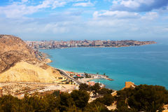 Mediterranean coast in Alicante Royalty Free Stock Images