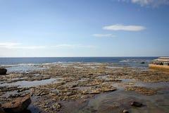 Mediterranean coast of ancient city Byblos view, Lebanon Royalty Free Stock Photo