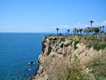 Mediterranean coast in Antalya Royalty Free Stock Photography