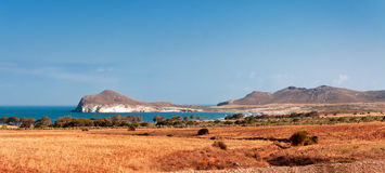 Mediterranean coast, cape Gata, anchorage Morron (Fondeadero del Royalty Free Stock Photography