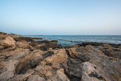 Mediterranean coast in the evening Royalty Free Stock Photos