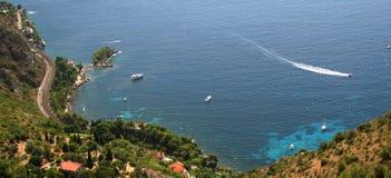 Mediterranean coast - France. Mediterranean coast, blue sea water, Cote d'Azure, France Stock Images