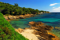 Mediterranean coast of French Riviera Stock Image
