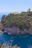 Mediterranean coast in Greece Royalty Free Stock Photo