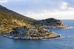 Mediterranean Coast Landscape Royalty Free Stock Images