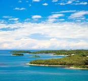Mediterranean Coast. Landscape in Croatia Royalty Free Stock Photos