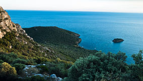 Mediterranean coast near Porto Koufo harbor, west coast of Sithonia Stock Photography