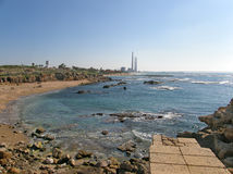 Mediterranean coast nearby Caesarea, Israel Royalty Free Stock Images