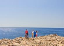 Mediterranean coast. Rhodes Island. Greece Royalty Free Stock Photography
