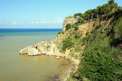 Mediterranean coast rocks & sea. Sicily Royalty Free Stock Image