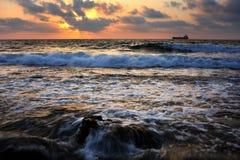 Mediterranean coast Stock Images