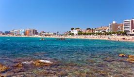 Mediterranean coast of Spain, Costa Brava , Blanes Royalty Free Stock Photos