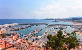 Mediterranean coast of Spain, Costa Brava , Blanes Stock Photography