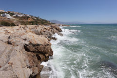 Mediterranean coast in Spain Stock Images