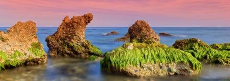 The Mediterranean coast a sunny day Stock Photography