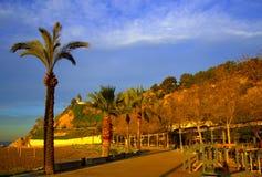 Mediterranean coast at sunrise,Spain Royalty Free Stock Photos