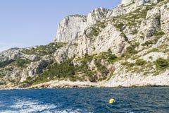 Mediterranean coast. Te mediterranean coast near Cassis in Provence Royalty Free Stock Photography